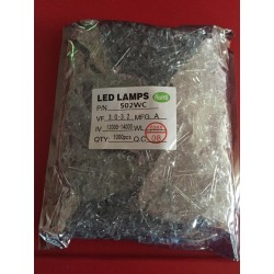 1000 LEDS blancos 5mm ultraluminiscentes