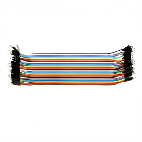 Paquete de cables macho macho 20cm