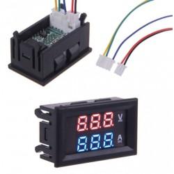 Medidor de voltaje y amperaje 0-100V 10A